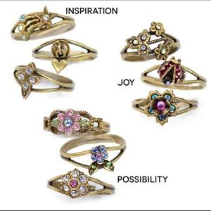 Jewelry - Ring Trio Sets, NWT So Pretty!, Adjustable!💕